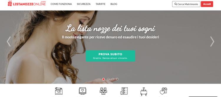 La Lista Nozze dei tuoi sogni ListaNozzeOnline 750x330 - Il sito web per il vostro matrimonio