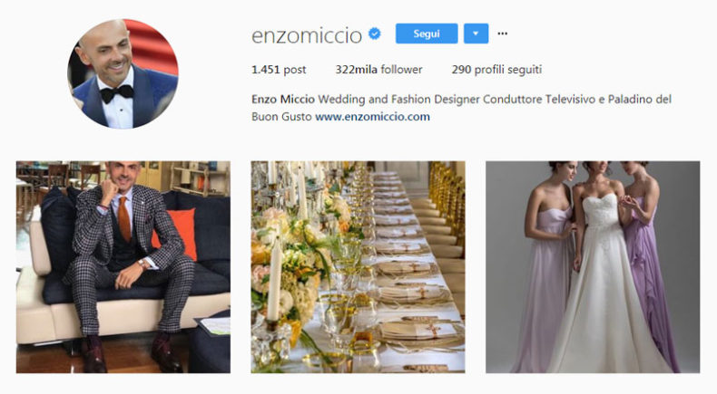Enzo Miccio instagram