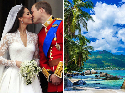 Kate Middleton e il Principe William – Seychelles - Luna di miele VIP: prendi spunto dalle celebrità!