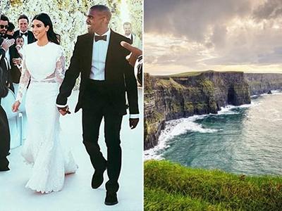 Kim Kardashian e Kanye West – Irlanda - Luna di miele VIP: prendi spunto dalle celebrità!