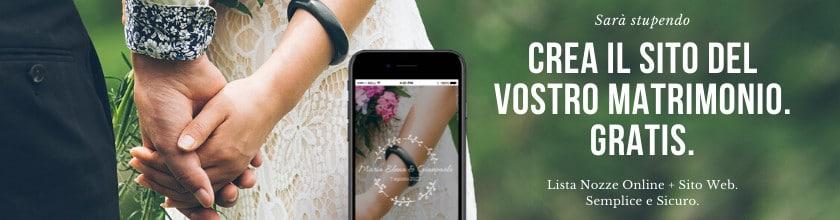 sito web matrimonio